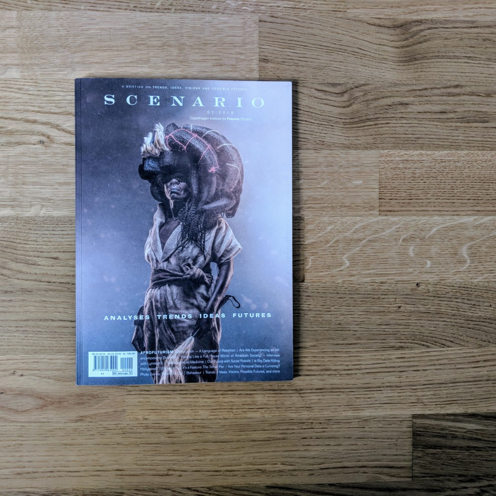 Cover of Scenario, a magazine by Copenhagen Institute for Future Studies