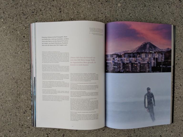 Waves & Woods Magazin friert beim Surfen in Russland